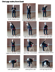 picture relating to Chair Yoga for Seniors Printable titled Unled